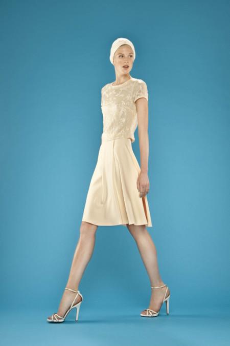 Vestido crema Dolores Promesas Resort Primavera-Verano 2014