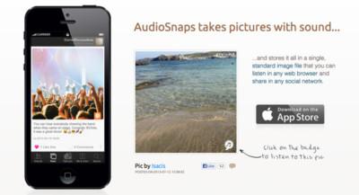 AudioSnaps añade sonido a tus fotografías
