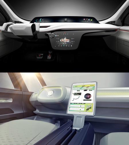Evolución diseño coches  Interiores Fcportal Vw