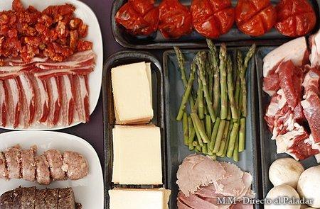 Ingredeintes para raclette