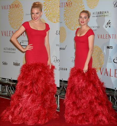 Sienna Miller también celebra el 45 aniversario de Valentino