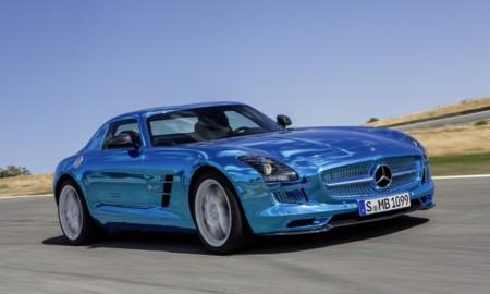 Mercedes-Benz SLS AMG Coupé Electric Drive azul