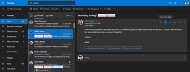 Microsoft lanza una nueva versión web de Outlook con modo oscuro, GIFs, aplazamiento de mails y muchas novedades en calendario