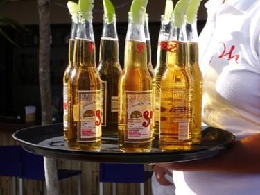 Cerveza y pipas para después del gimnasio