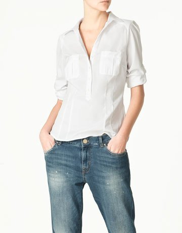 zara camisa blanca