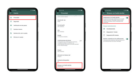 Block WhatsApp with fingerprint