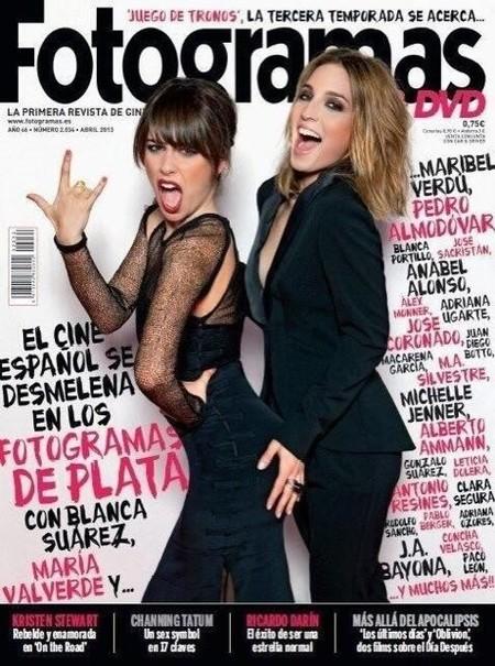Quiero estar en la portada del Fotogramas, ahí en medio de Blanca Suárez y María Valverde