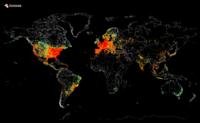 Un mapa con (casi) todos los dispositivos conectados: la imagen de la semana