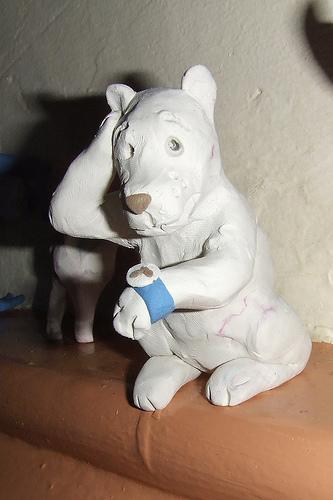 Muñeco con pasta de modelar
