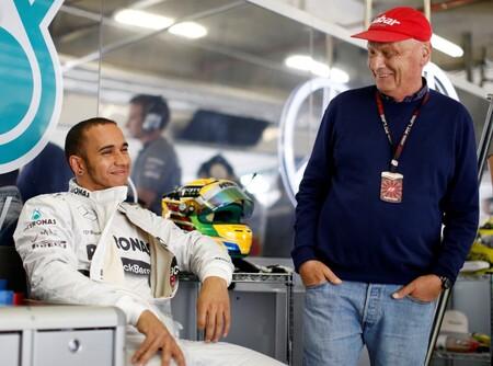Hamilton Lauda Mercedes F1 2013
