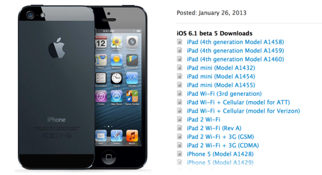 beta 5 de iOS 6.1