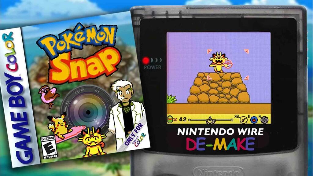 Así habría sido Pokémon Snap si hubiese sido publicado en Game Boy Color