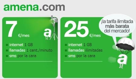 Amena da un duro golpe en la mesa: llamadas ilimitadas e Internet por 25 euros