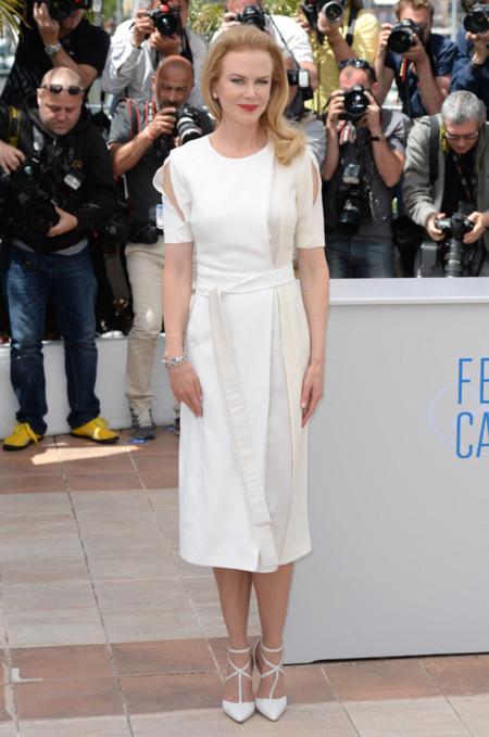 Nicole Kidman vestido blanco Altuzarra Otoño-Invierno 2014 photcall Grace of Monaco Festival de cine de Cannes 2014