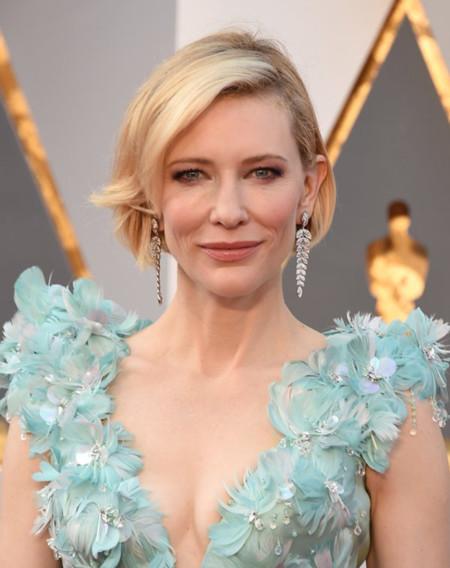 El Armani turquesa de Cate Blanchett no convence (nada) en los Oscar 2016