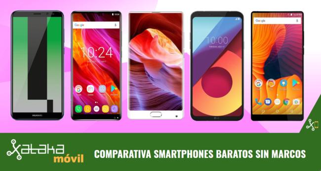 12 smartphones sin apenas marcos entre 150 y 300 euros
