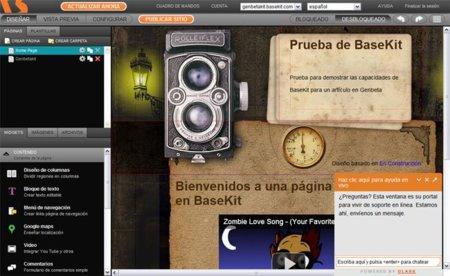 BaseKit: editando online nuestra plantilla tras haberla convertido desde PSD