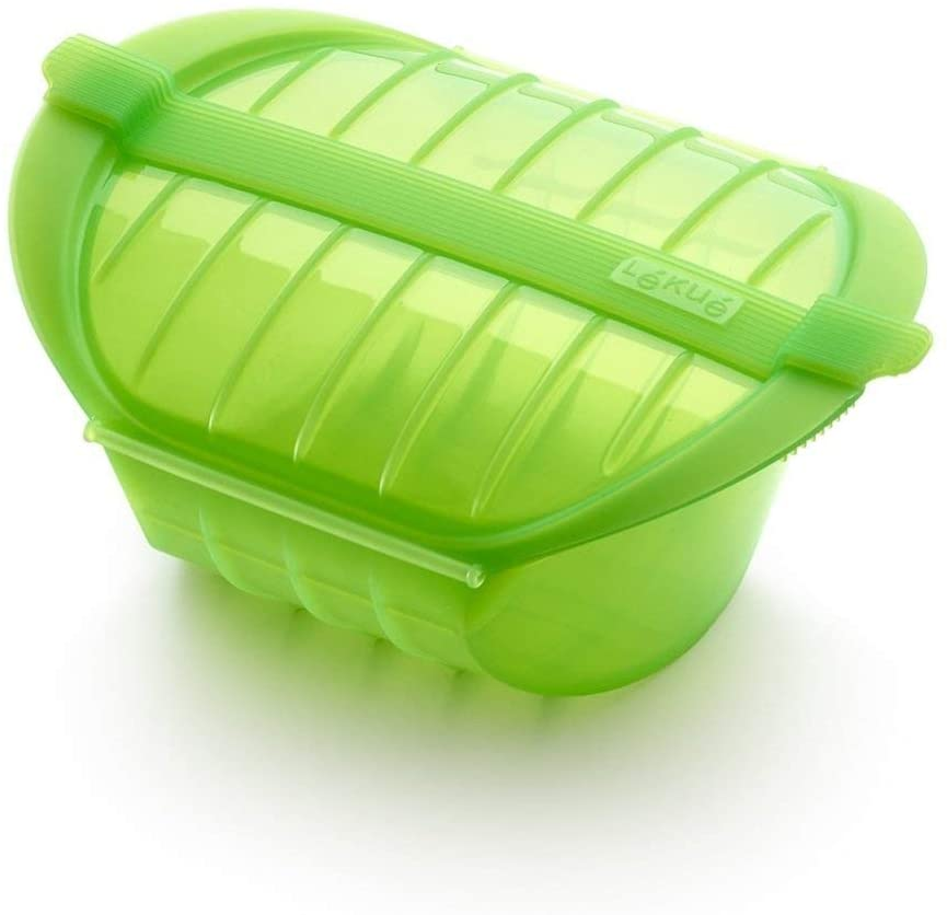 Lékué Ogya 1-2 verde Estuche Vapor, silicona platino, Personas