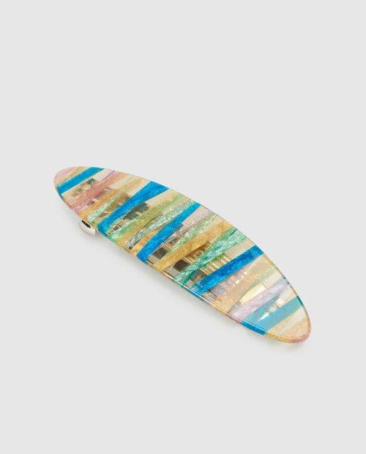 Pasador oval Araban hecho a mano multicolor