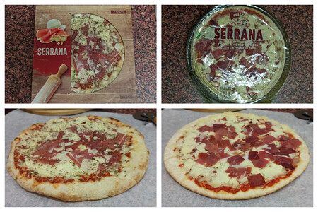A La Izquierda La Pizza Serrana De Masa Madre A La Derecha La Clasica Serrana Las Diferencias Fisicas Entre Ambas Pizzas Son Notables En Masa Y Distribucion De Los Ingredientes