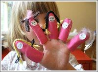 Unos títeres de dedo muy originales para hacer en casa