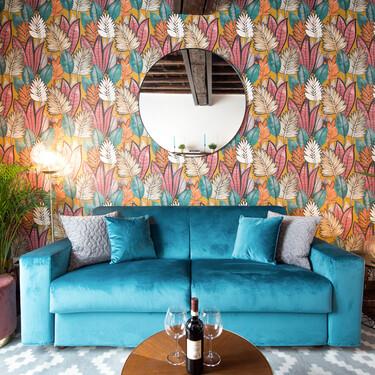 """Un pequeño apartamento en Roma lleno de color y de tendencias """"deco"""" muy inspiradoras"""