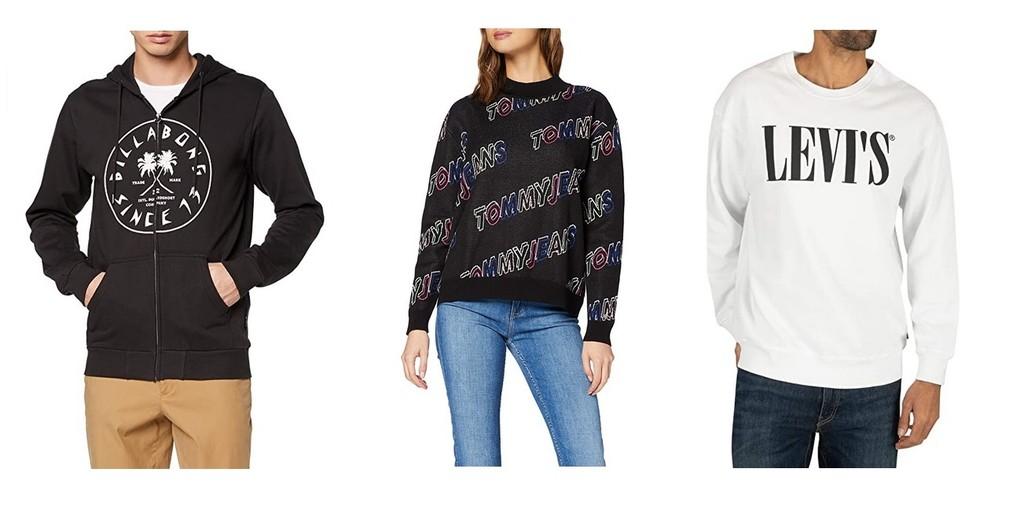 Chollos en tallas sueltas de pantalones, polos y camisetas de marcas como Billabong, Tommy Hilfiger o Levi's en Amazon