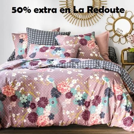Código de descuento del 50% en La Redoute en su sección de textil hogar