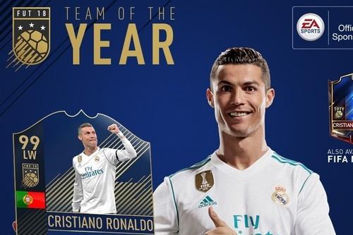 Cristiano Ronaldo está en una racha pésima de juego, pero en el FIFA 18 del que es portada, sube