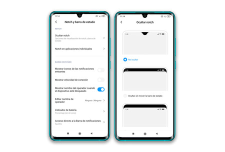 Xiaomi Mi Note 10 Ajustes Pantalla Notch 01