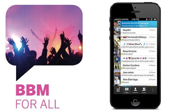 BBM, BlackBerry Messenger para iOS será lanzado el próximo día 22 de septiembre