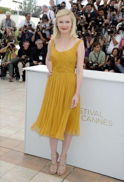 Kirsten Dunst sandalias Cannes