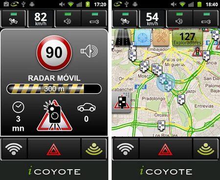 iCoyote, la aplicación para smartphones