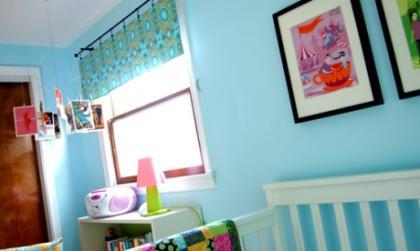 Una habitación... ¿en azul celeste?
