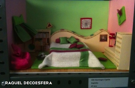 Hemos visto... maquetas de dormitorios hechas por niños