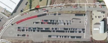 El párking de Brabus visto desde Google Maps
