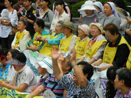 Comfort Women Rally In Front Of The Japanese Embassy In Seoul August 2011 2