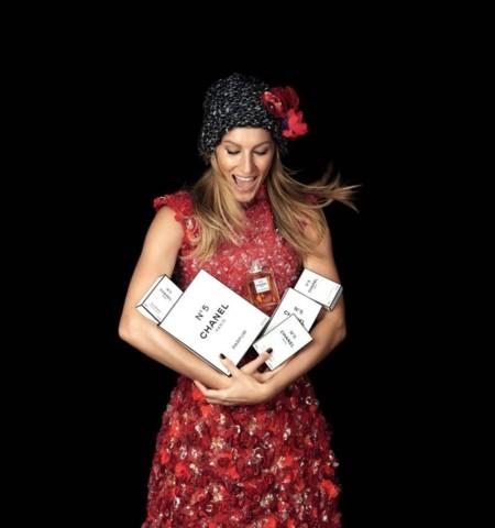 Gisele Bundchen Campana Navidad 2015 Chanel N5 Patrick Demarchelier 2