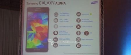 Galaxy Alpha ya tiene todas sus especificaciones filtradas