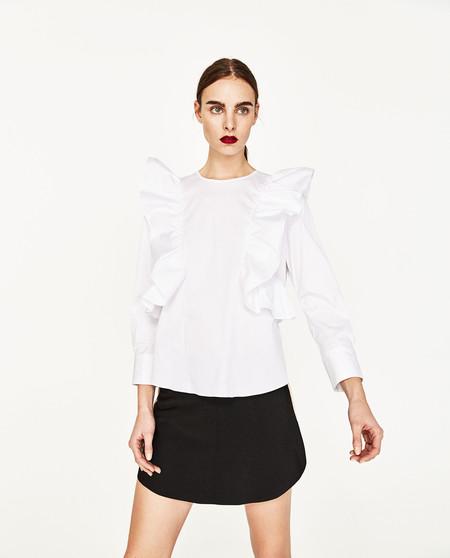 Clon Isabel Marant Blusa Blanca Primavera Verano 2017 Zara