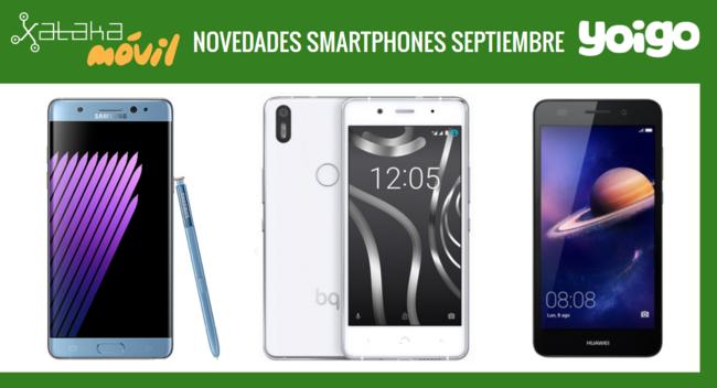 Precios Samsung Galaxy Note 7, bq Aquaris X5 Plus y Huawei Y6 II Compact con Yoigo