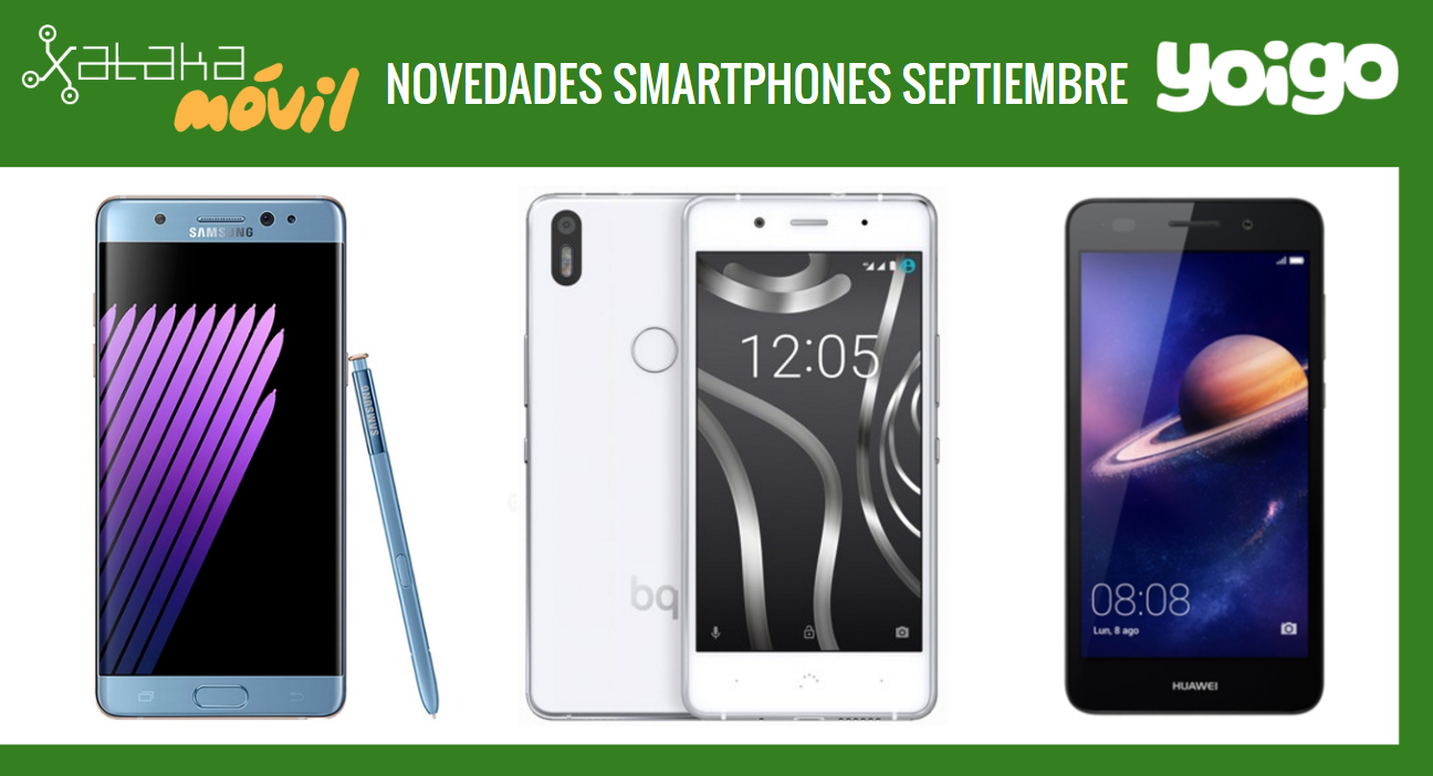 Prices Samsung Galaxy Note 7, Bq Aquaris X 5 Plus and Huawei Y6 II Compact with Yoigo