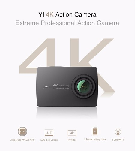 Venta Flash: Xiaomi Yi 4K Action Camera por 183 euros y envío desde Europa