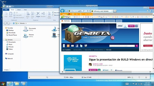 Escritorio clásico de Windows 8