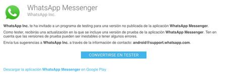 Trucos para WhatsApp: ser beta tester