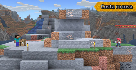Super Smash Bros Ultimate Escenario Minecraft 06