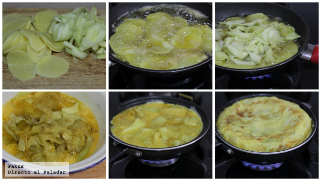 Tortilla Calabacin Con Queso