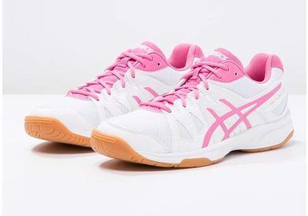 60% de descuento en las zapatillas de pista Asics Gel-upcourt en blanco y rosa: ahora 21,95 euros en Zalando con envío gratis