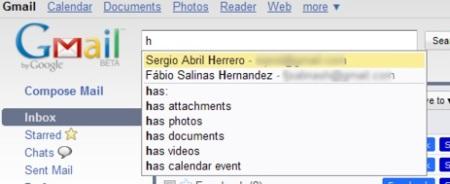 Autocompletado de búsquedas, otra novedad de Gmail Labs