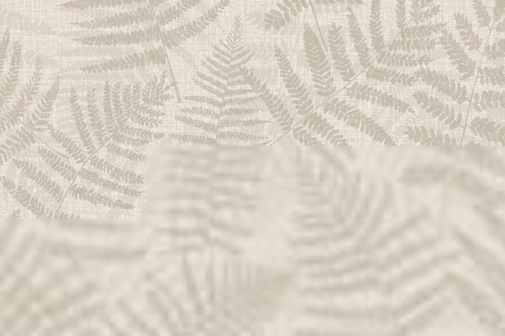 Papel pintado Hojas beige 5,3 m²